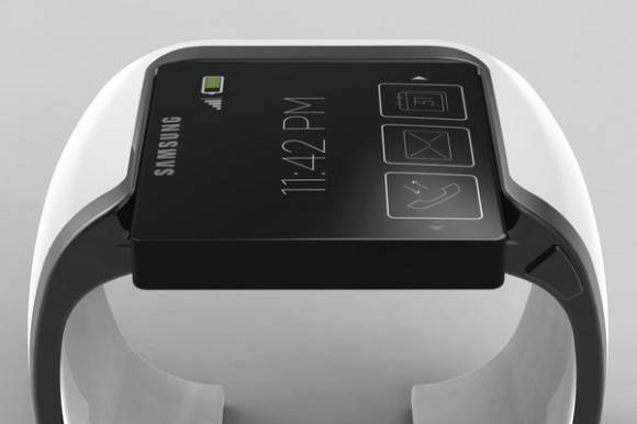 Concept d'une smartwatch Samsung