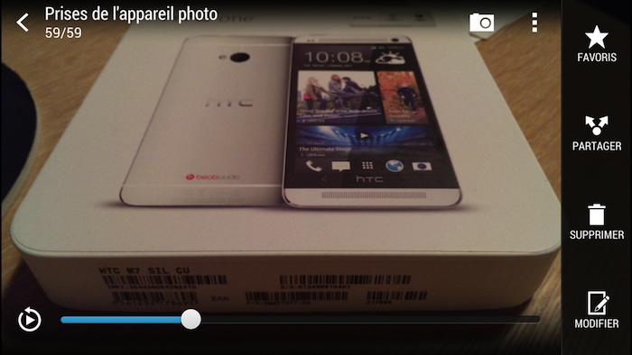HTC Zoe capture une vidéo de trois secondes afin de prendre les meilleurs photos