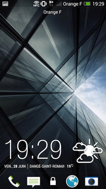 Écran de déverrouillage de HTC Sense 5.0