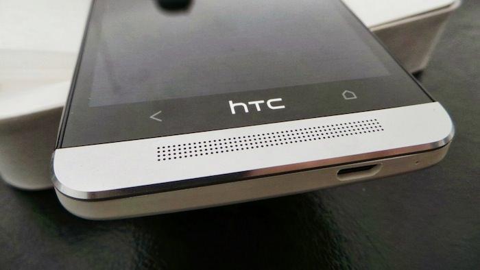 Vue de dessous du HTC One