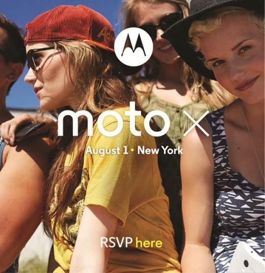 Présentation du Moto X le 1er août à New York
