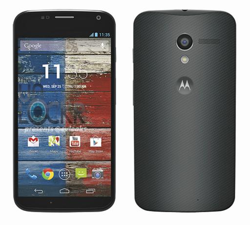 Image de presse du Moto X en noir