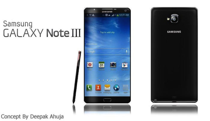 Concept du Galaxy Note 3