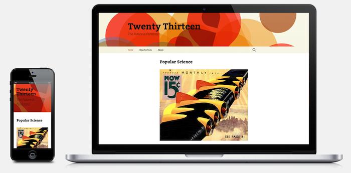 Nouveau thème Twenty Thirteen met l'accent sur le contenu avec un design coloré