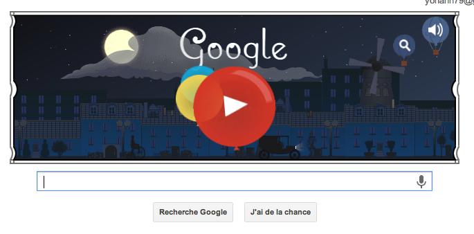 Claude Debussy le compositeur français en doodle animé du jour