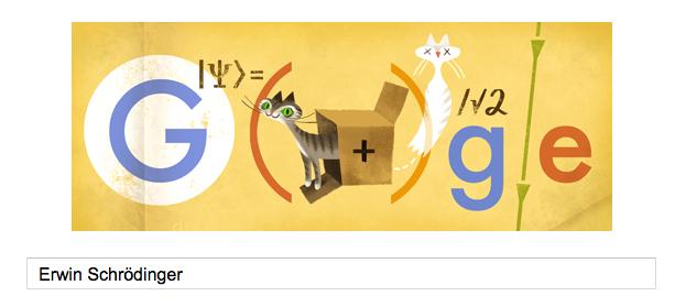 Erwin Schrödinger s'affiche dans le doodle du jour