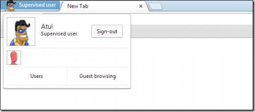 Une icône semble indiquer qu'il s'agit d'une session Chrome supervisée