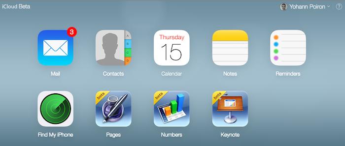 La nouvelle conception de iCloud bêta reprend la conception de iOS 7