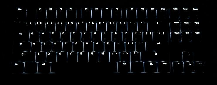 Rétroéclairage sur le clavier