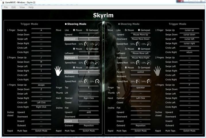 Utilisation du Leap Motion avec Skyrim