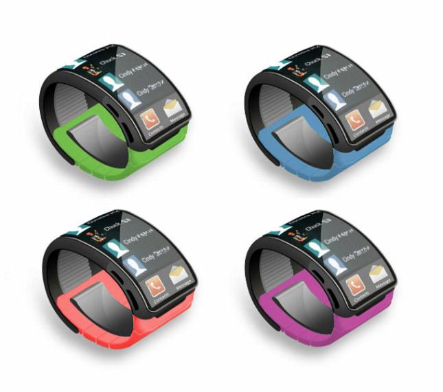 Concept de la Samsung Galaxy Gear en quatre coloris