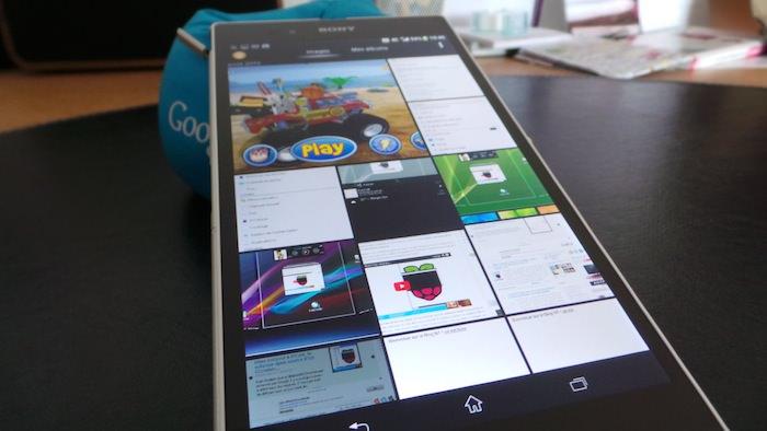 L'écran du Xperia Z Ultra est vraiment d'excellente qualité