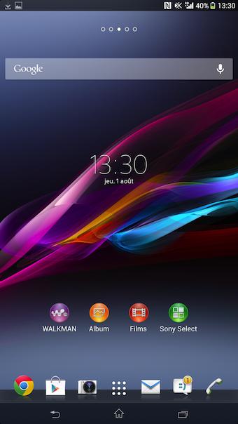 Android 4.2 est la version officielle sur le Xperia Z Ultra