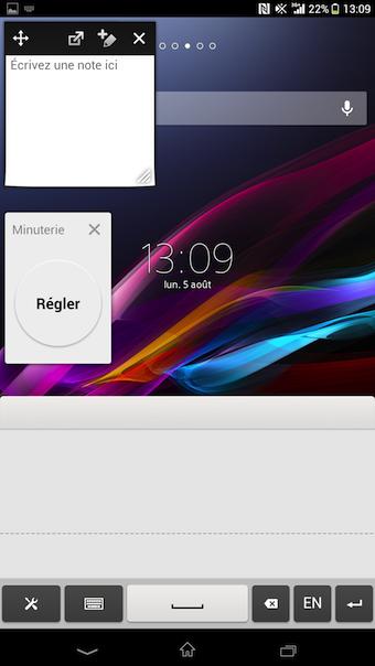 Les petites applications Sony vous permettront d'avoir un réel multitâche