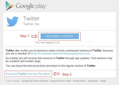 Une fois inscrit au programme bêta vous recevrez toutes les nouveautés de Twitter sur Android