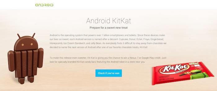 Android Kit Kat est la prochaine version de l'OS mobile de Google !