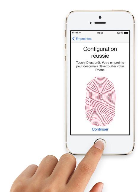 Apple veut vos doigts ! l'iPhone 5S inclut 'Touch ID' pour la lecture d'empreintes digitales