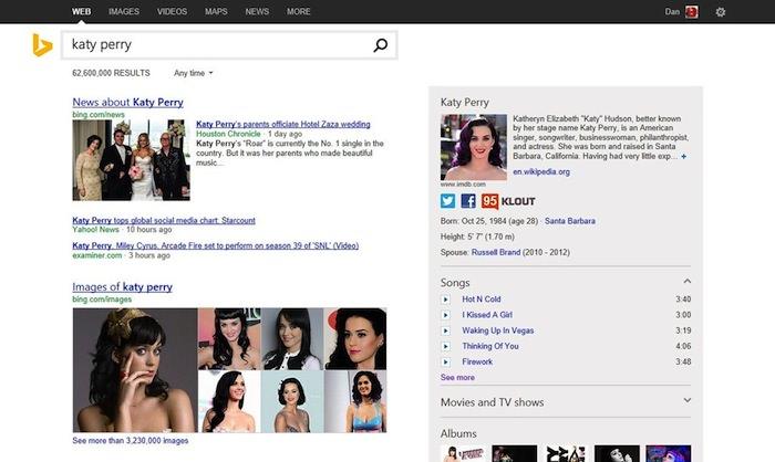 Microsoft a dévoilé Page Zero pour Bing