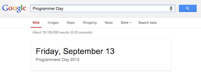 La journée des programmeurs sur Google