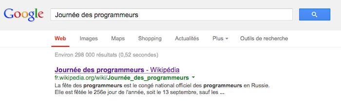 La journée des programmeurs sur Google France