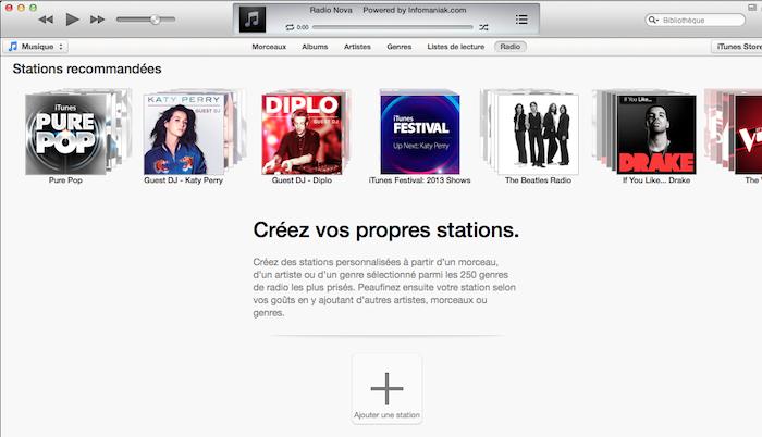 Vous êtes prêt à écouter iTunes Radio !