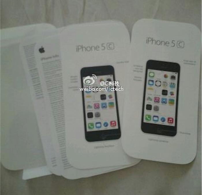 iPhone 5C en blanc