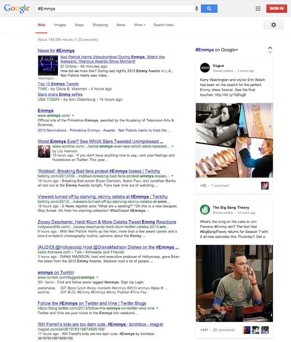 Google commence à supporter les hashtags Google+ dans les requêtes de recherche