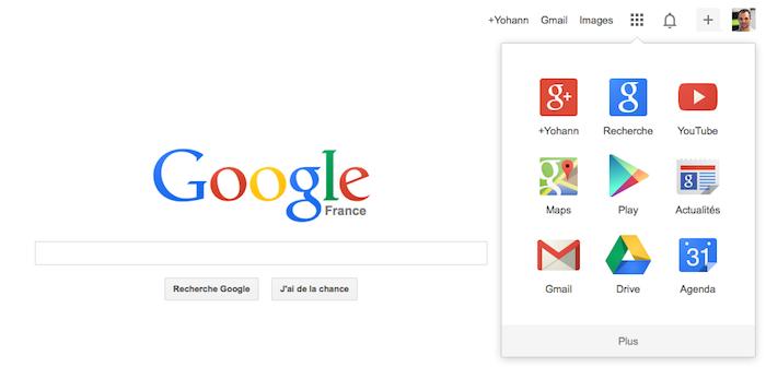 Google dévoile son nouveau logo et sa barre de navigation avec un lanceur d'applications