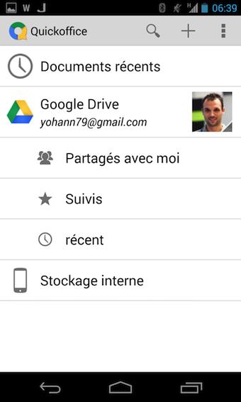 Accès à tous les documents internes, et de Google Drive
