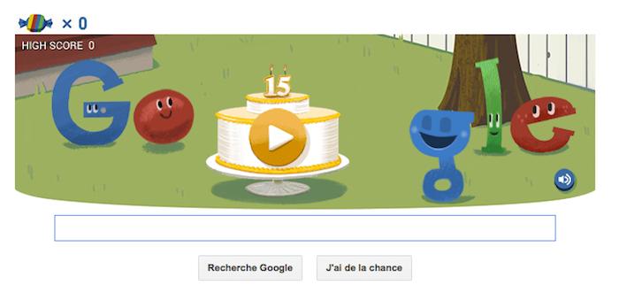 Google fête son anniversaire avec un doodle piñata animé