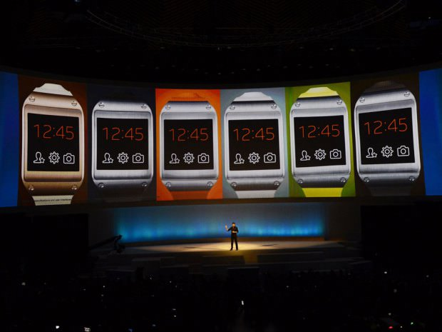 Samsung vient d'officialiser sa première smartwatch