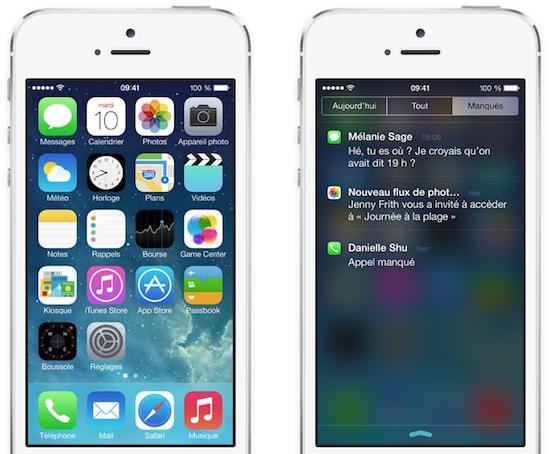 iOS 7 sera la plateforme de choix des deux OS mobile