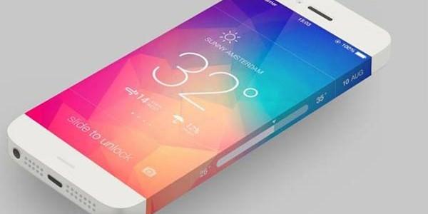Concept de l'iPhone 6 arrivant avec un écran sans bord