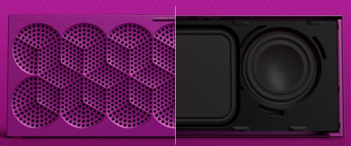 Le Mini Jambox contient deux néodyme, mais un seul radiateur de basses passif