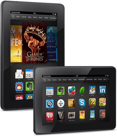 Kindle Fire HDX versus Nexus 7 : les spécifications