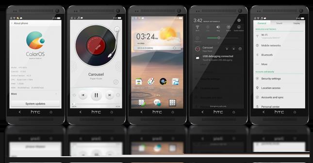 La ROM ColorOS dévoilée sur le Oppo N1 portée sur le HTC One