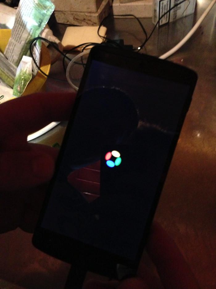 Écran de démarrage du Nexus 5