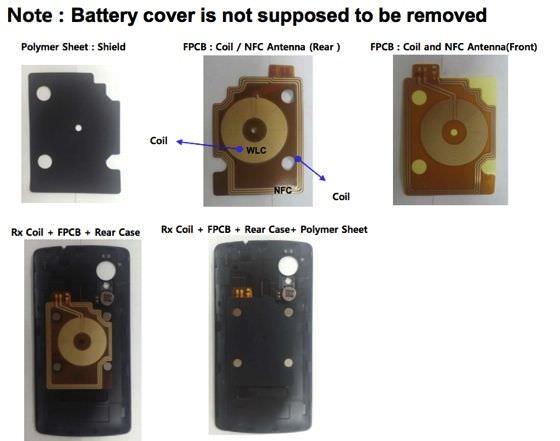 Quelques photos de la coque arrière du Nexus 5