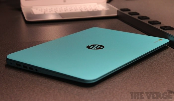 Vue de dessus du Chromebook 14 Ocean Turquoise