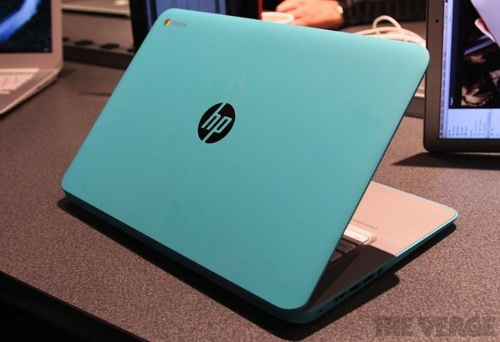 Vue du dos du Chromebook 14 Ocean Turquoise
