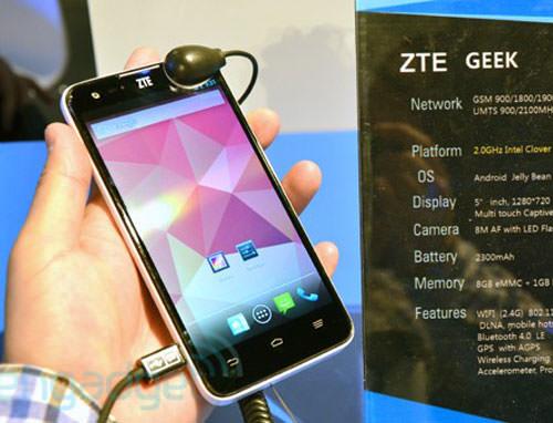 Le ZTE Geek à nouveau annoncé, qui devient le premier smartphone du monde à disposer du Tegra 4