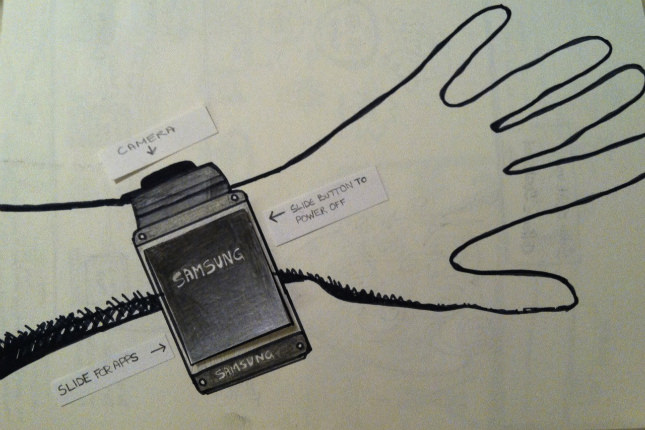 Les photos de la smartwatch Galaxy Gear de Samsung sembleraient provenir d'un prototype