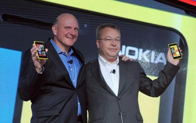 Ballmer et Elop à Nokia lancement de Windows Phone