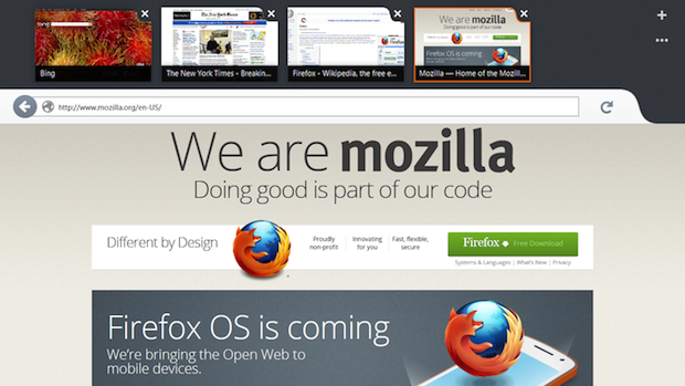 Mozilla lance la preview de Firefox pour Windows 8 sur les tablettes