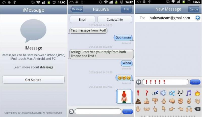 N'utilisez pas iMessage Chat pour Android, celle-ci n'est pas sûre