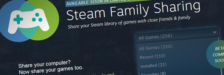 Steam ouvre le partage des jeux PC avec Family Sharing, tout en restant localisé et bridé