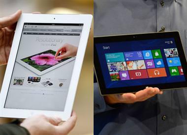 Surface 2 versus iPad 4 : les spécifications des tablettes Apple et Microsoft