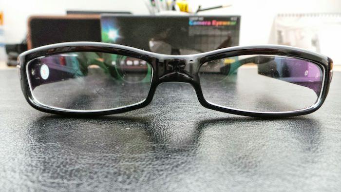 Vue de face des lunettes