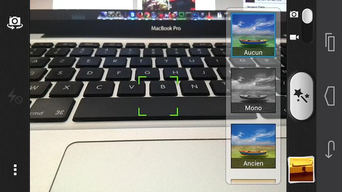 L'application Appareil Photo de Huawei permet de mettre des filtres sur les photos