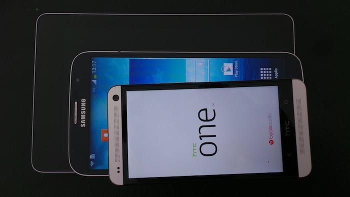 HTC One, Galaxy Mega et Nexus 7